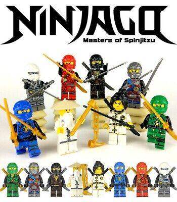 Ninjago: Masters of Spinjitzu 8pc Custom Minifigures Set - USA SELLER