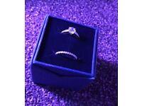 Swarovski diamond ring set