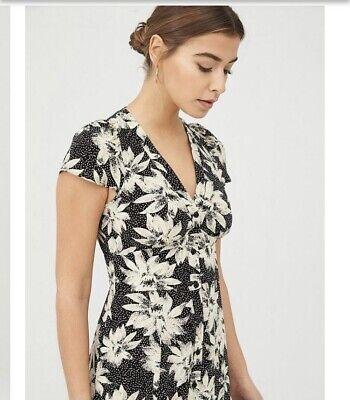 Whistles Starburst Floral Print Dress Size 10