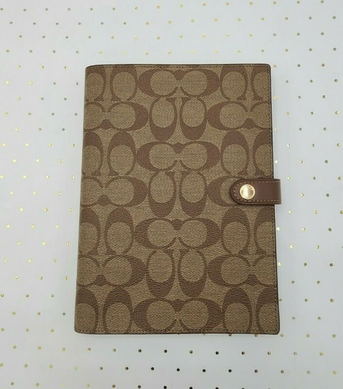 Coach ☆ NOTEBOOK with Khaki SIGNATURE Print ☆ New! (Style 222)