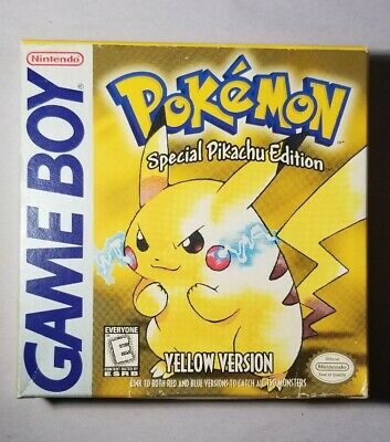 Authentic Pokemon: Yellow Version Complete in Box Nintendo Gameboy Video Game