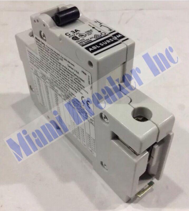 C3A ABL SURSUM Manual Motor Controller / Circuit Breaker 1 Pole 3 Amp 277V