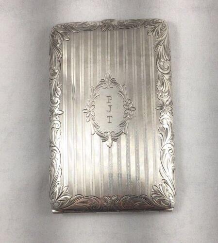 """Beautiful Watrous Floral Sterling Large Cigarette Case- 5"""" x 3 1/4"""""""