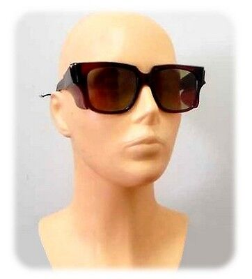 VINTAGE ARMY SURPLUS SUNGLASSES eighties shades LEATHER POUCH cord side screen