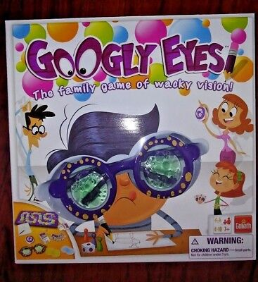 Googly Eyes Game Family Drawing Funny Crazy Vision-Altering With Board Glasses - Googly Eyes Board Game