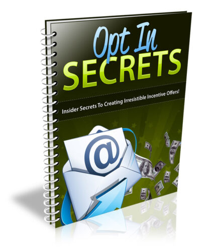 Opt-In Secrets PDF eBook with Full resale rights!