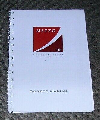 Mezzo Folding Bike Owners Manual