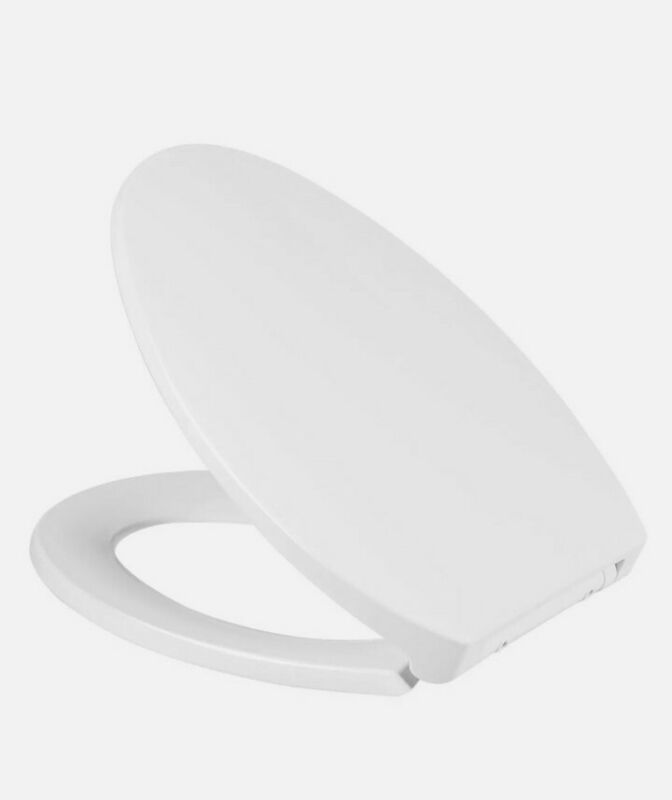 New Elongated Toilet Seat Slow-Close with Non-Slip Seat Bumper Quick Release