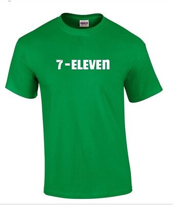 7 Eleven 7 11 Funny Pop Party Vintage Cool Irish Green Cotton T Shirt S   5Xl