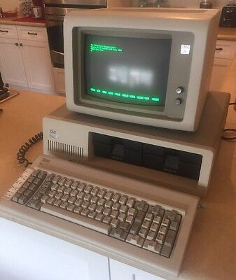 Rare Ibm 5150 Vintage Personal Computer Pc With 5151 Monitor And Keyboard