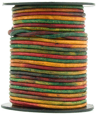 Xsotica® Kinte Gypsy Natural Dye Round Leather Cord 1.0mm 10 meters (11 yards) ()