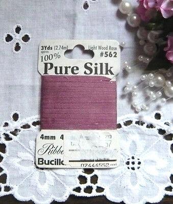 4mm LT EMERALD 100/% Silk Ribbon Vintage French German Bisque Doll Dress Trim 3YD