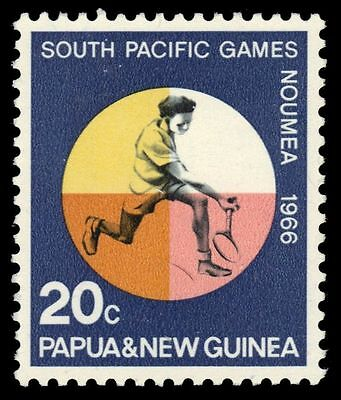 "PAPUA NEW GUINEA 227 (SG99) - South Pacific Games ""Tennis"" (pa6045)"