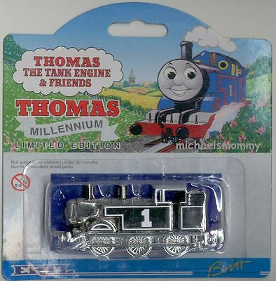 THOMAS THE TANK & FRIENDS-ERTL LIMITED EDITION SILVER MILLENNIUM TRAIN 2000 NEW!