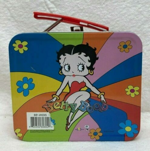 "Betty Boop Red Tin Box 5.5 "" long"