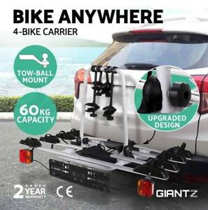 Towball Hitch Ball Mount 4 Bicycle Bike Carrier Rack Tow Bar Car