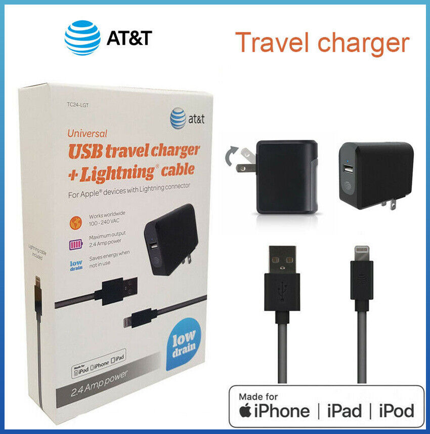 Original AT&T Apple Wall charger iPhone 6/7/8/Plus/X/11/SE L