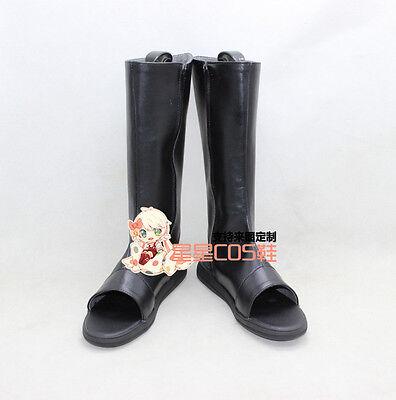 NARUTO Uchiha Sasuke Black Halloween Cosplay Shoes Boots X002
