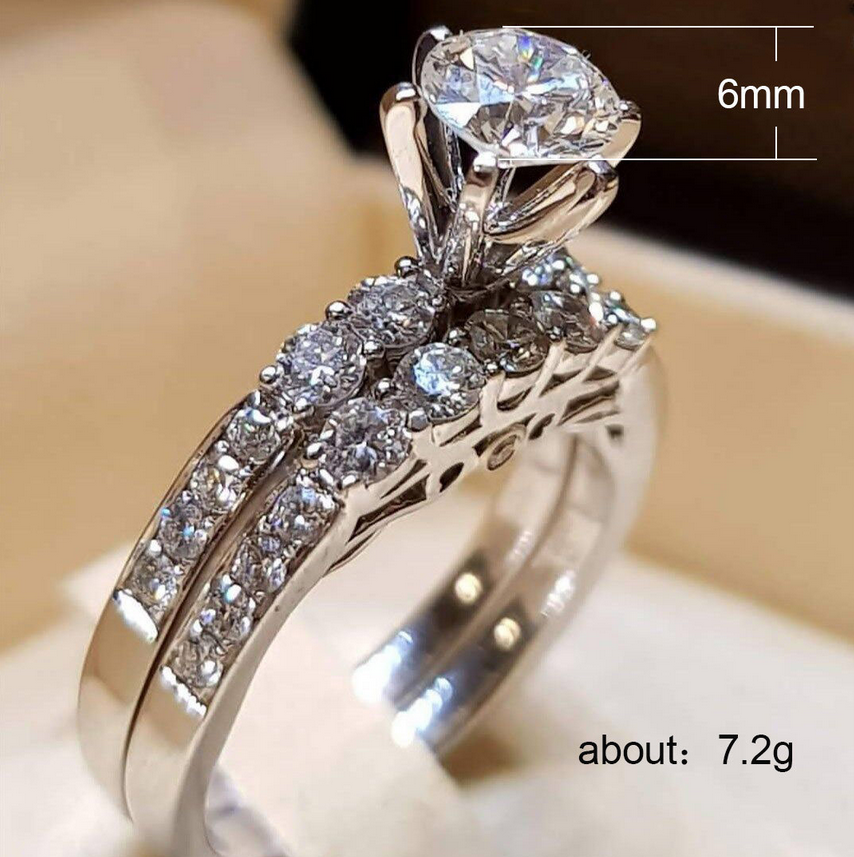 Women rings stainless steel ring wedding rings engagement for Lady/'s Lianzhi AAA