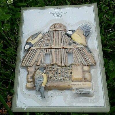 Marjolein Bastin 3D Double Light-Switch Cover Bird Feeder Tiki Hut Hallmark