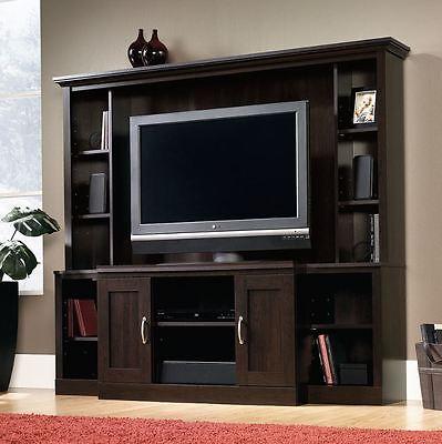 Entertainment Center Wall Unit Door TV Stand Flatscreen Media Console Cabinet  ()