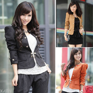 2012-Collection-Womens-Basic-Slim-Short-Suit-Coat-Jacket-Blazer-Puff-Sleeve-SJ