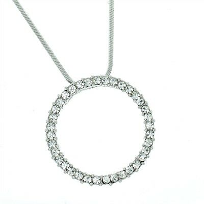 Circle Of Love Made With Swarovski Crystal Pendant Necklace 18