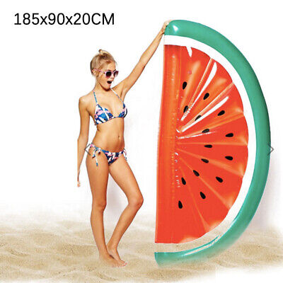 Giant Inflatable Watermelon Swimming Pool Slice Float Raft Beach Lounge Bed Toy