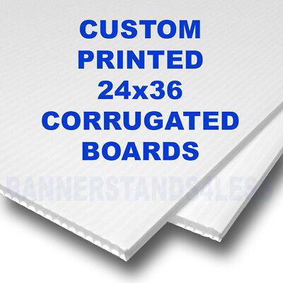 24x36 Corrugated Custom Sign A-frame Sidewalk Signicade Sign Insert Board 2pc
