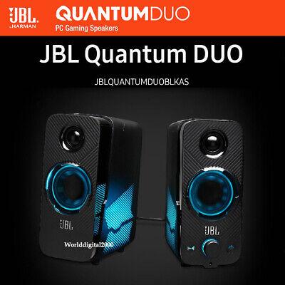 Samsung JBL Quantum Duo PC Gaming Speakers Bluetooth LED Lights 100~240V Free