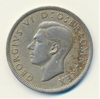 1949 GREAT BRITAIN SILVER Half Crown 1/2 CR Coin in Great condition UK British
