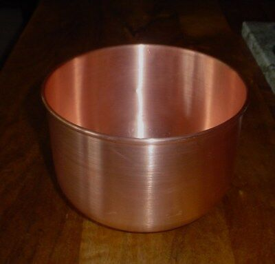 Solid Copper Hand Made Mixing Bowl ~ holds 3-1/4 quarts
