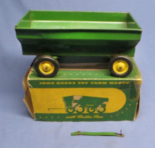 Vintage John Deere Toy Farm Wagon w/Rubber Tires in Original Box