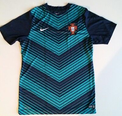 Portugal National Team Nike Authentic 2015 Soccer Training Jersey teal Large