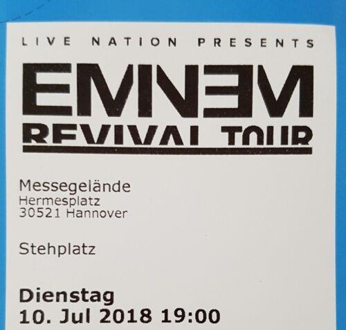 Tickets Eminem Hannover 10.07.18 Stehplätze Eintrittskarten Konzertkarten Karte