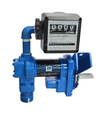 New 12v Anti-explosive Gasolin Fuel Transfer Pump W Nozzle Meter 20 Gpm In Usa