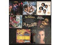 8 x vintage vinyl albums mixed genres