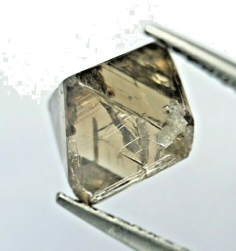 Big Uncut Diamond 2.80TCW Brown Yellow Sparkling Natural Octahedron Shape Gift