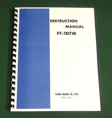 "Yaesu FT-107M Service Manual 195 pages Full Size 11/"" X 24/"" Foldout Schematics"