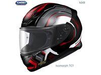 #SHOEI NXR MOTORCYCLE HELMET - ISOMORPH RED TC-1 - SMALL - EXCEL COND - £180 #arai