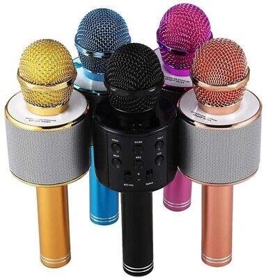 Microfono Wireless Karaoke Con Altoparlante Cassa Integrata Bluetooth Portatile