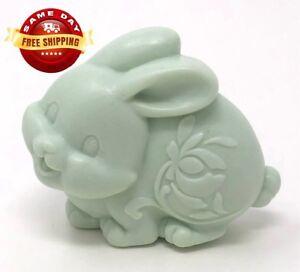 3D GREEN EASTER BUNNY SOAP BAR  by H&B Oils Center HANDMADE ALL NATURAL