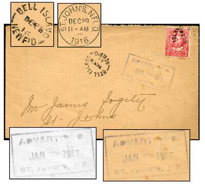 NEWFOUNDLAND BELL ISLAND ADVERTISED ST. JOHN'S JAN 1917