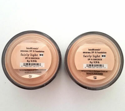 2 Pack of Bareminerals Original Fairly Light Escentuals Foundation 8g N10