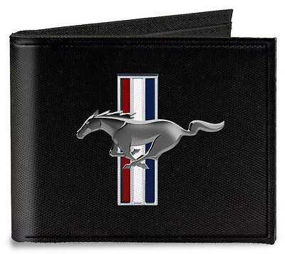 Canvas Ford Mustang tribar logo bi-fold wallet - great christmas gift for fans!