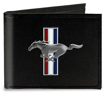 Canvas Ford Mustang tribar logo bi-fold wallet - great fathers day gift!