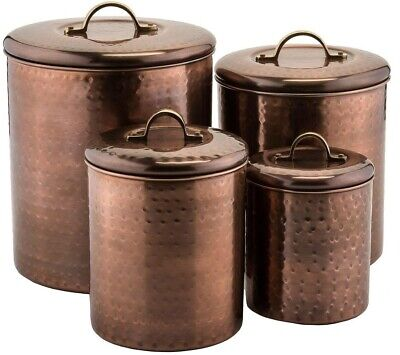 Hammered Canister Set with Fresh Seal Cover Technology, Anti