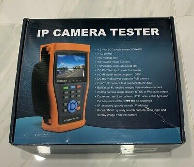 Hdview Touch 4.3 Poe Cctv Tester For Ipahdcvitvianalog Cameras New