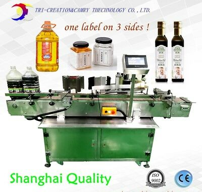 Labeling Machine For Square Bottle1 Label For 3 Sidesadhesive Labeling Machine