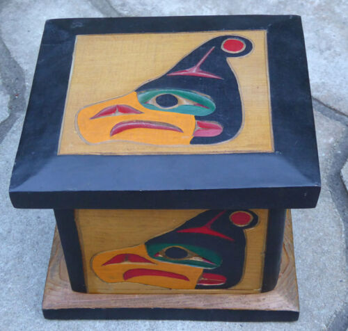 Northwest Coast Native Thunderbird Steam Bent Box